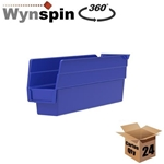Shelf Bin, 11-5/8 IN. L, 2-3/4 IN. W, 4 IN. H, Blue