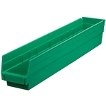 Shelf Bin, 23-5/8 IN. L, 4-1/8 IN. W, 4 IN. H, Green