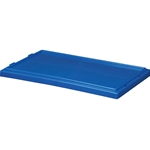 Stack and Nest Lid, 18 IN. L, 11 IN. W, 1 IN. H, Blue, 35181BLUE