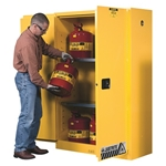 Justrite, 894500, Flammable Storage Cabinet, 45 gal., 18 in. x 43 in. x 65 in.